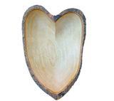 8 Inch Hand-Carved Mango Wood Heart-Shaped Bowl rorodecor.myshopify.com
