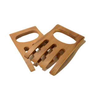roro Acacia Wood Set of Salad Claws and Hands, 6 Inch