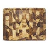 roro Rectangular End-Grain Acacia Kitchen Wood Cutting Board and Block with Groove, 16 inch rorodecor.myshopify.com