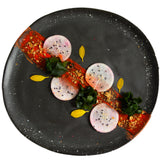 roro Ceramic Stoneware Black Speckled Hand-Molded Dinner Plate Pair rorodecor.myshopify.com