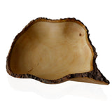16 Inch large Mango Wood Fruit Bowl with Bark Edges rorodecor.myshopify.com