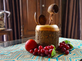 roro 5 Inch Wood Branch Utensil and Stationary Holder with Bark rorodecor.myshopify.com