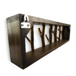 roro 22 inch Handmade Wood Twig Hat Coat and Key Hook Rack, Oak Brown rorodecor.myshopify.com
