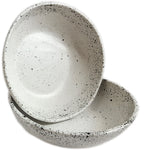 roro White Speckled Ceramic Stoneware Hand-crafted Bowl Set, 7 Inch Set of 2 rorodecor.myshopify.com