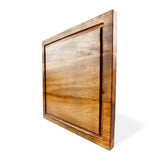 roro Square Striped Wood Grooved Steak and Cheese Serving Board, 10 Inch rorodecor.myshopify.com