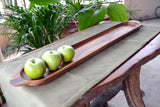 roro Wood Baguette French Bread Miter and Appetizer Tray, 28 Inch