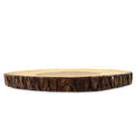 "roro Hand-Crafted Sustainable Serving Platter/Cutting Board with Slight Dip and Bark Edges, 12"" rorodecor.myshopify.com"