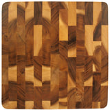 roro Wood Square End-Grain Chef Cutting Board, 14 Inch Acacia Square