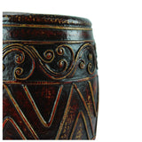 roro Hand-Crafted Classical Asian Antiquity Copper-Brown Matte Inspired Ceramic Stoneware Vase rorodecor.myshopify.com