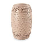 roro Hand-Crafted Pink Beige Copper Classical Asian Antiquity Matte Inspired Ceramic Stoneware Vase (Matte Oval Vase, Pink) rorodecor.myshopify.com