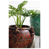roro Hand-Crafted Brown Classical Asian Antiquity Matte Inspired Ceramic Stoneware Vase (Matte Planter, Brown) rorodecor.myshopify.com