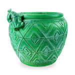 roro Hand-Crafted Green Copper Classical Asian Antiquity Matte Inspired Ceramic Stoneware Vase (Matte Planter, Green) rorodecor.myshopify.com
