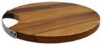 "roro 10"" Round Wood Cheese and Serve Board with Stainless Steel Handle rorodecor.myshopify.com"