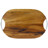 RoRo Round Wood Cheese Board with Stainless Steel Handle (Classic 2-Handle) rorodecor.myshopify.com