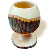 roro Handcarved Wood Goblet/Chalice with Bark, Live-Edge Bark rorodecor.myshopify.com