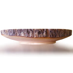 roro 12 Inch Handcarved Circular Wood Cake and Pie Stand Display with Bark rorodecor.myshopify.com