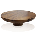 roro 12 Inch Acacia Round Elevated Wood Cake Stand rorodecor.myshopify.com
