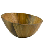roro Acacia Wood Slanted Modern Salad and Serving Bowl, 10 Inch rorodecor.myshopify.com