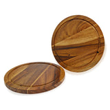 roro Acacia Wood Trivet or Charger with Groove, 10 Inch set of 2 rorodecor.myshopify.com