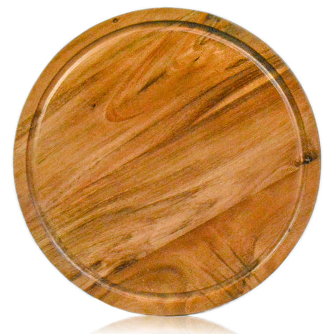roro Acacia Round Wood Trivet/Charger with Groove (13 Inch x 1) rorodecor.myshopify.com