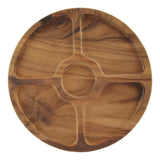 Round Wood Compartment Divided and Dip Tray, 13 Inch rorodecor.myshopify.com