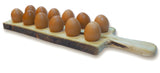 RoRo Hand-Carved Reversible Wooden Eggs Server with Handle and Bark Edges rorodecor.myshopify.com