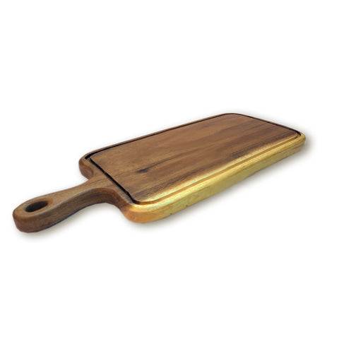 "RoRo 17"" Handcarved Serving Paddle with handle and groove rorodecor.myshopify.com"