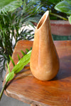 "roro Handcarved Glossy Natural Wood Teardrop Carafe Shaped Vase, 12"" rorodecor.myshopify.com"