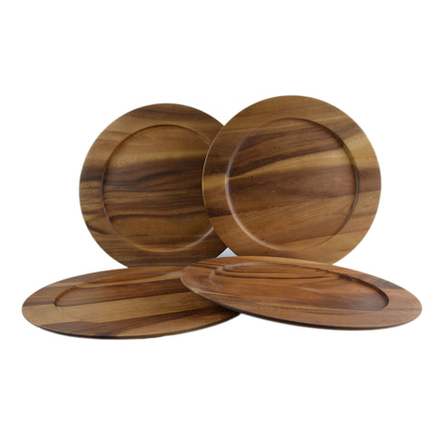 RoRo Large Classic Wood Charger in Oak Stain, 14 Inch rorodecor.myshopify.com