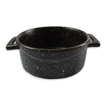roro Ceramic Two Handle Serving and Soup Bowl, 7 Inch Black Mottled rorodecor.myshopify.com