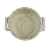 roro Ceramic Two Handle Serving and Soup Bowl, 7 Inch White Mottled rorodecor.myshopify.com
