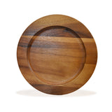 roro Classic Wood Charger Plates in Oak Stain Set of 4, 12 Inch rorodecor.myshopify.com
