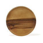 roro Round Acacia Wood Serving Charger Plates, 7 Inch Set of 4 rorodecor.myshopify.com