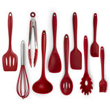 10 piece silicone kitchen cooking tools utensil sets