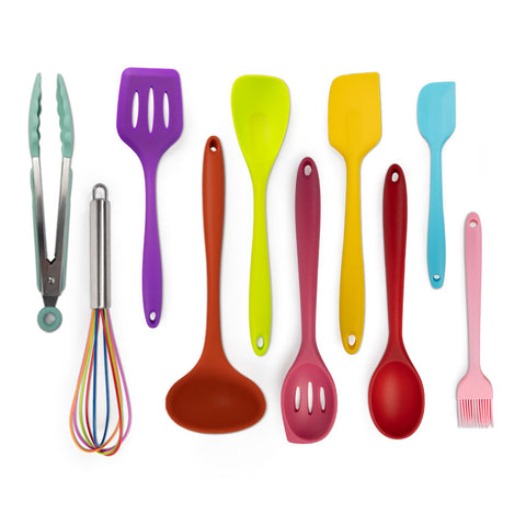 10 pieces colorful kitchen utensils set