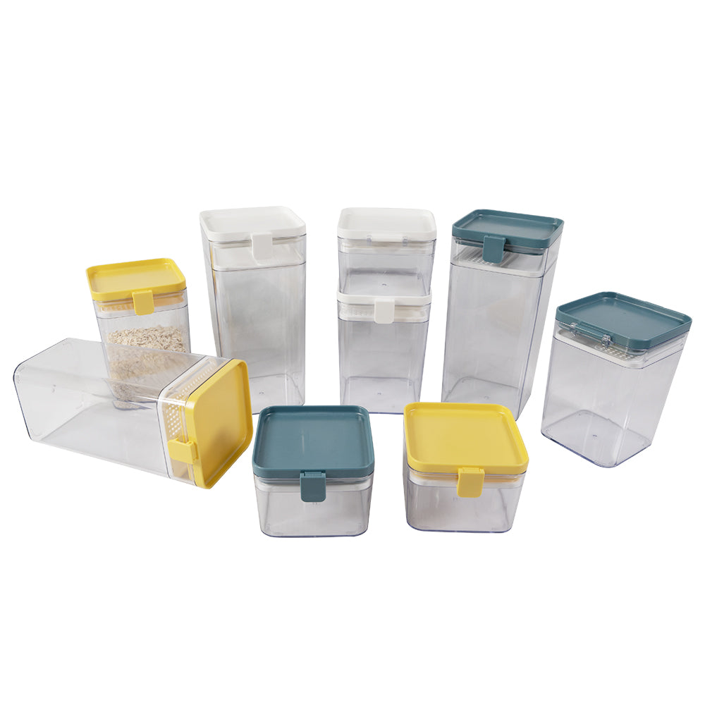 Kitchen salt sugar storage canister sets
