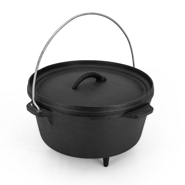 Pre-seasoned Cast Iron Camp Dutch Oven Pot 3L