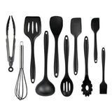 10 pieces silicone utensils set with bucket