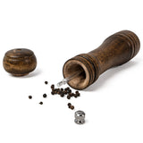 Manual wood salt and pepper grinder mill set