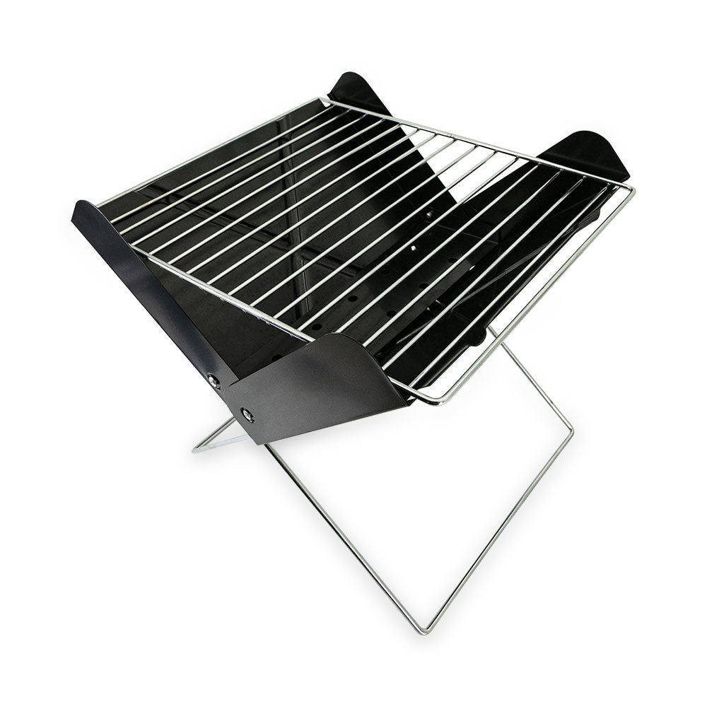 Outdoor easy to folding portable mini bbq charcoal grill