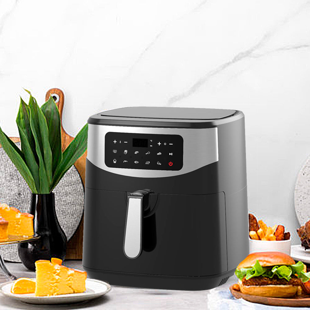 5.8-Quart Air Fryer with Accessories, 6 Pcs, and 8 Cooking Presets