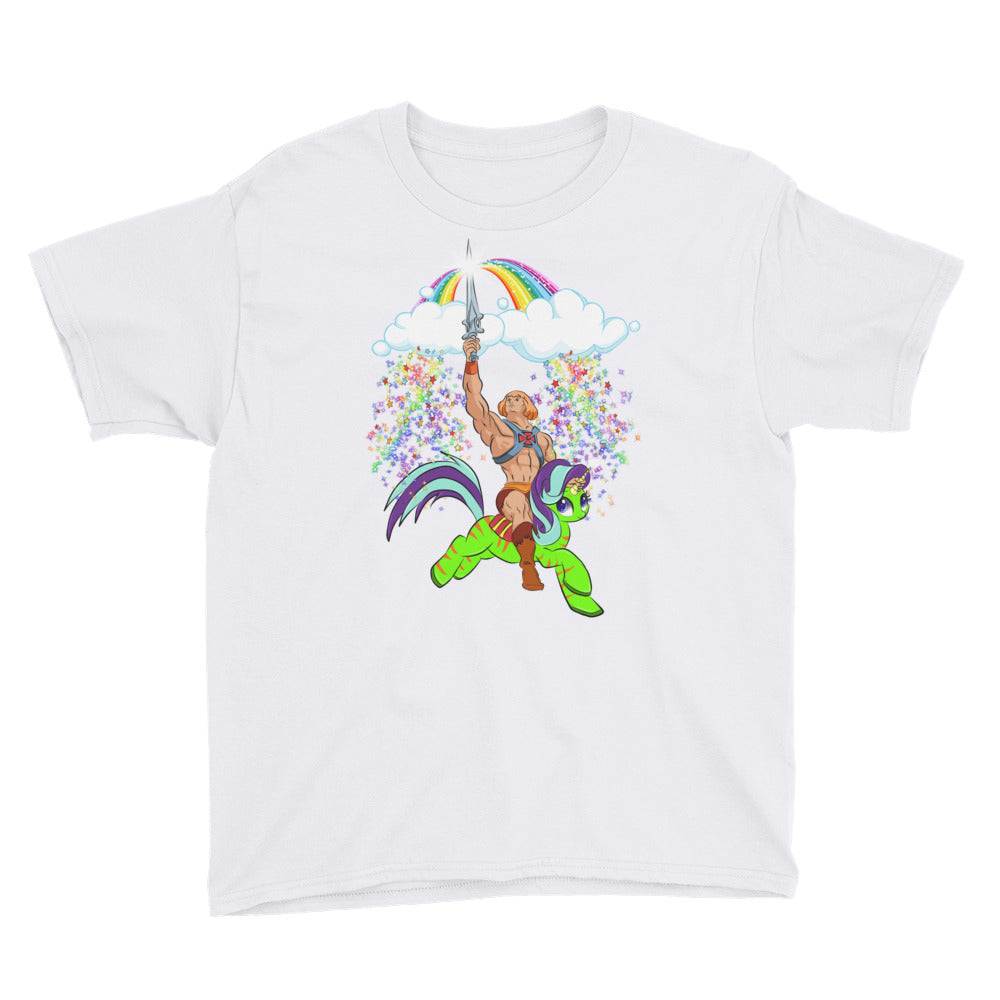 HeMan Feels the Rainbow Youth Short Sleeve T-Shirt