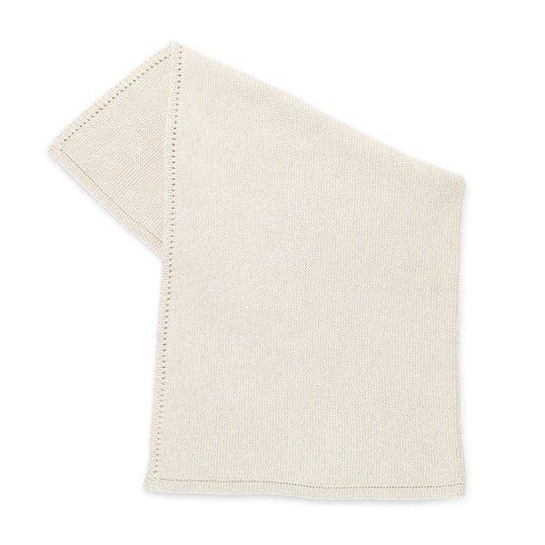 The Little Green Sheep Organic Knitted Baby Blanket - Linen  - Hola BB