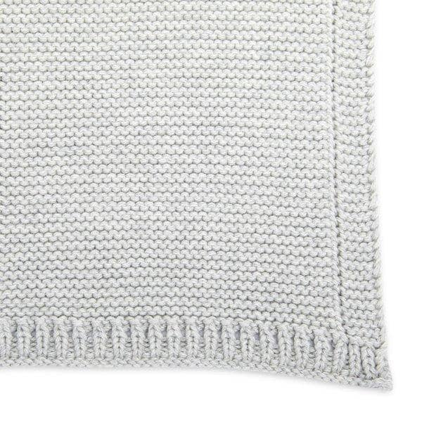 The Little Green Sheep Organic Knitted Baby Blanket - Dove  - Hola BB