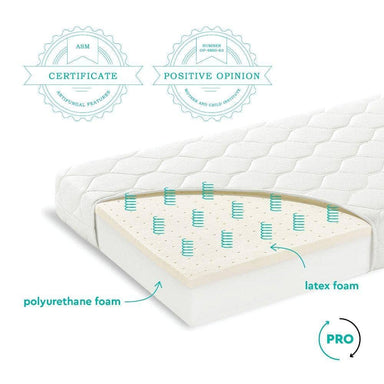 Woodies Premium latex cot mattress 60 x 120  - Hola BB