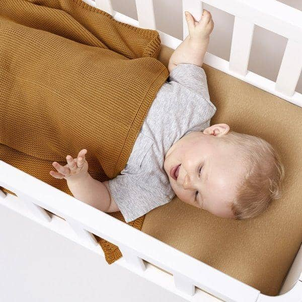The Little Green Sheep Organic Crib Fitted sheet - Honey  - Hola BB