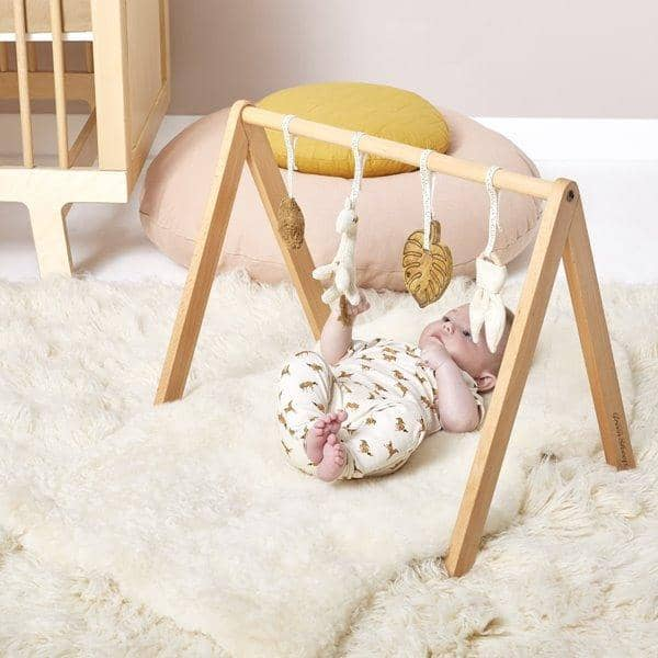 The Little Green Sheep Wooden Play Gym & Toys - Safari  - Hola BB
