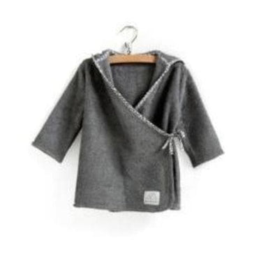 Nanami Nanami Baby Bathrobe Grey  - Hola BB