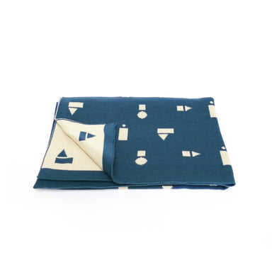 Ted & Tone Ted & Tone Organic Blanket Blue Playblocks  - Hola BB