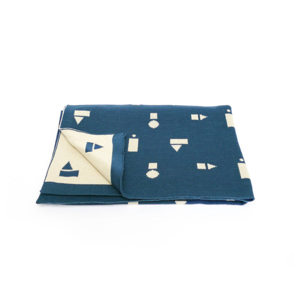 Ted & Tone Organic Blanket Blue Playblocks - Hola BB
